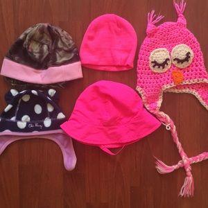 Bundle of baby girl hats